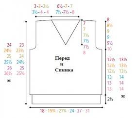 Классическая безрукавка с V-образным вырезом - Выкройка 1