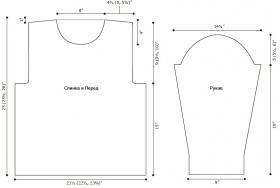 Водолазка со жгутами и резинкой - Выкройка 1