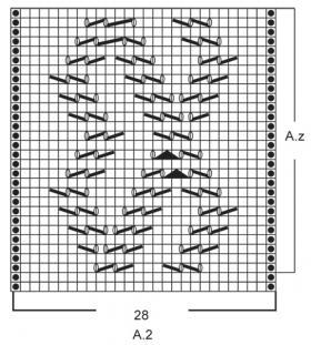 Жакет спицами с длинным рукавом связанный поперек - Схема 2