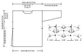 Джемпер голубой фонтан - Схема 3
