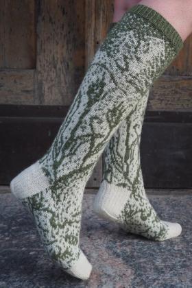Гольфы Рождественский заяц - Фото 1