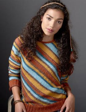Полосатый свитер по диагонали
