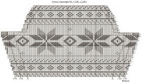 Свитер спицами со снежинками - Схема 6