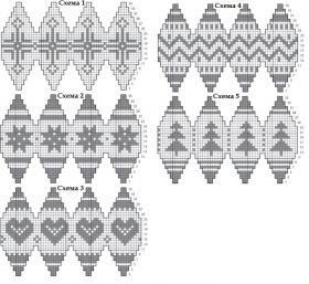 Новогодние шарики со скандинавским узором - Схема 1