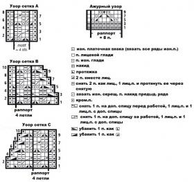 Ажурный топ с запахом - Схема 1