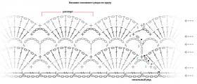 Свободный ажурный топ крючком - Схема 3