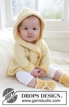 Жакет спицами с цельнокроеным рукавом для малыша