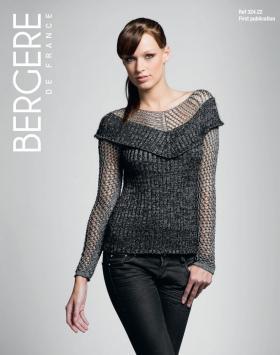 Облегающий свитер с сетчатыми рукавами