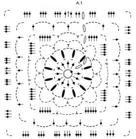 Плед зимний кристалл - Схема 2