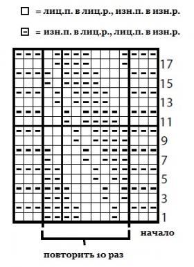 Плед с диагональным теневым узором - Схема 1