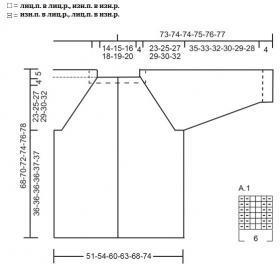 Кардиган Простое решение - Схема 1