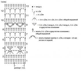 Свободный прямоугольный топ крючком - Схема 1