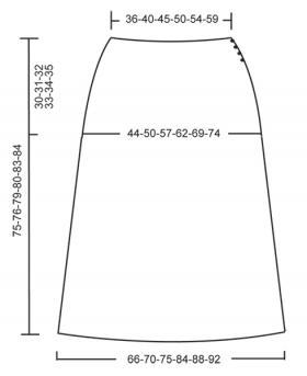 Юбка ниже колен с ажурными узорами - Выкройка 1