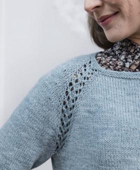 Пуловер Дельфинум - Фото 1