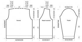 Жакет с V-образным вырезом полупатентной резинкой - Выкройка 1