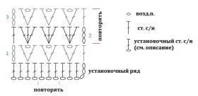 Длинный жилет с ажурным узором - Схема 1