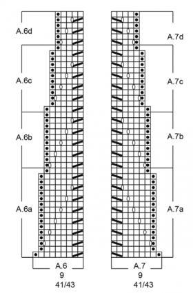 Гольфы белые жгуты - Схема 3