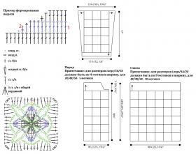 Кардиган Модный квадрат - Схема 1