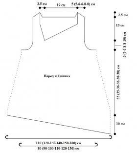 Асимметричный топ - Выкройка 1