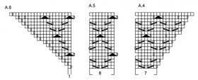 Шаль морской прилив - Схема 3