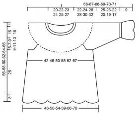 Пуловер Незабудки - Выкройка 1
