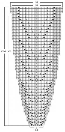 Джемпер волшебная паутина - Схема 2