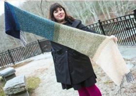 Цветной шарф резинкой бриошь - Фото 1