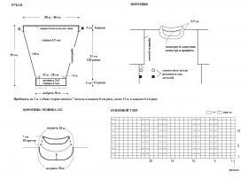 Классический серый свитер - Выкройка 2