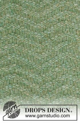 Шаль и митенки зеленое море - Фото 2