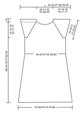 Туника спицами с мелким ажуром и рукавом реглан - Выкройка 1