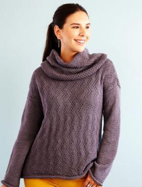 Пуловер легкий шик со съёмным воротником