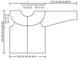 Теплая кофта с круглой кокеткой для ребенка - Выкройка 1