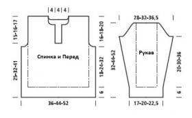 Свитер для мальчика с объемным узором - Выкройка 1