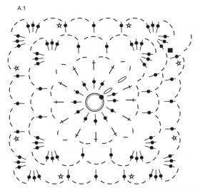Болеро цветущий рай - Схема 1