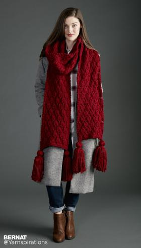 Супер шарф с объемными ромбами - Фото 1