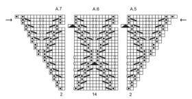 Шаль золушка - Схема 4