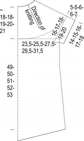 Топ с рукавом реглан платочным узором - Выкройка 1