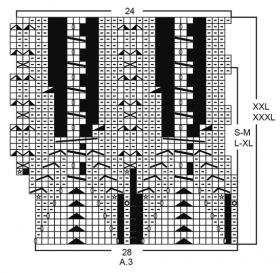 Джемпер хрустальный блеск - Схема 2