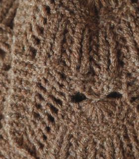 Шарф-жабо с оригинальным узором - Фото 1
