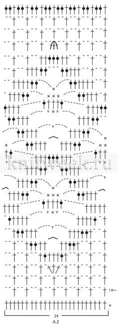 Юбка миди крючком с ажурными узорами - Схема 2