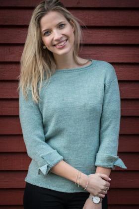 Пуловер с декоративными манжетами