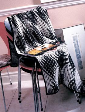 Одеяло спицами бурлеск