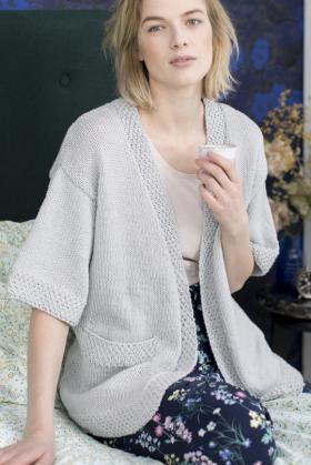 Кардиган кимоно с карманами