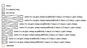 Шапка с узором плетенка - Схема 2