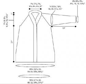 Кардиган Пенелопа - Выкройка 1