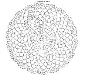 Салфетка с цветочным узором - Схема 1