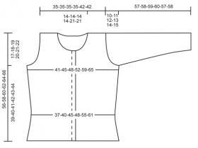 Ажурный жакет спицами на пуговицах - Выкройка 1