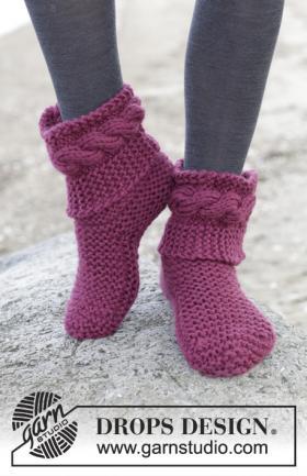Короткие носки платочной вязкой
