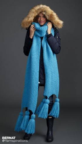 Большой шарф с кисточками