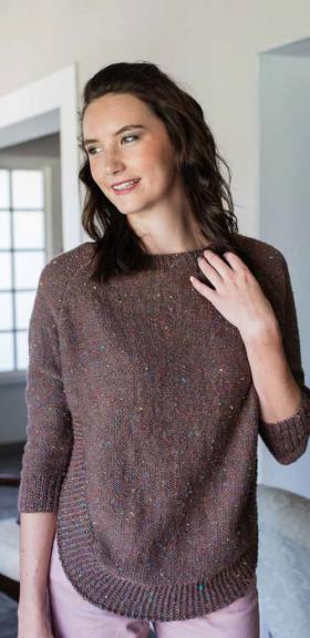 Пуловер с рукавом реглан в стиле пончо